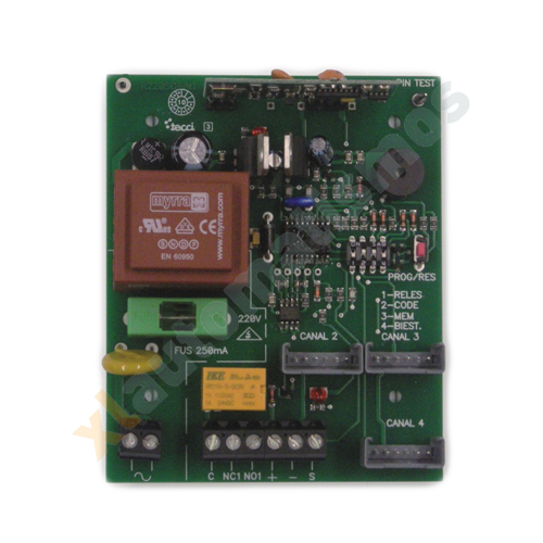 RECEPTOR  220V a 433Mhz 1C 255 AMPLIABLE